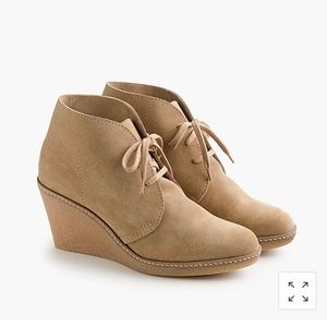 Sold Out JCrew MacAlister Suede Wedge Booties sz 8